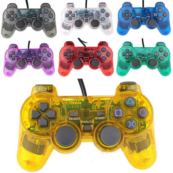 Transparent 4 couleurs Compateble Pour P3 contrôleur Joysticks Manette De Jeu Contrôleur Sans Fil Bluetooth Contrôleur De Jeu OTH718