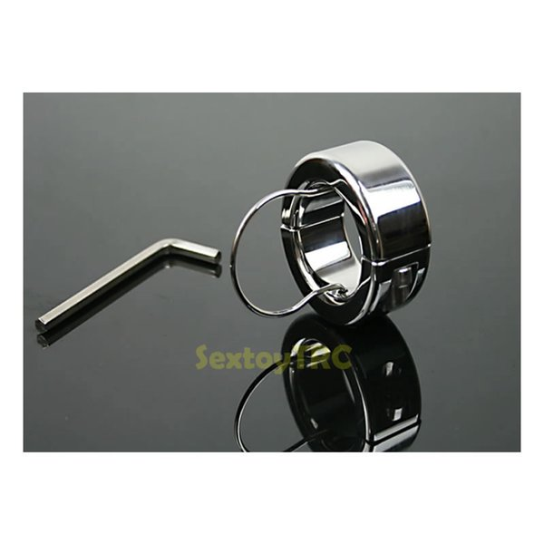Testicle Bondage Gear Scrotum Pendant Scrotal BDSM Sex Toy Metal Stainless Steel with Penis Ring Testicle Restraint for Male Men B0310017