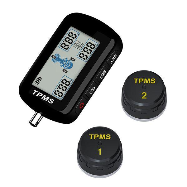 Auto M10E TPMS Motorrad Reifendruckkontrollsystem Wasserdicht 2 Externe Sensor Wireless LCD Display Motorrad Werkzeuge