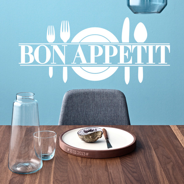 Appetite BON Wall Sticker DIY French Home Decor Dining Room Quotes Kitchen Art Vinyl Decal FQ0019