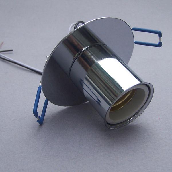 Base de la lámpara de cerámica E27 chapado en cromo de alta calidad instalación oculta portalámparas de iluminación Accesorios de iluminación 5 unids