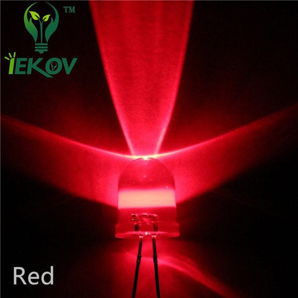 top popular High Quality Factory Price 1000pcs lot 10MM Round top Red LED Emitting Diodes Super bright LED Electronic Components Wholesale Hot SALE 2020