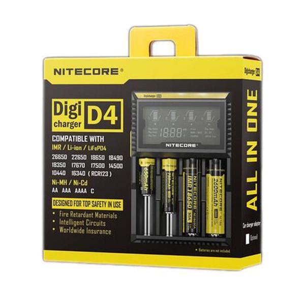 Оригинальный Nitecore UM10 UM20 Us Plug D2 D4 ЖК-цифровой дисплей аккумуляторная батарея зарядное устройство для imr 18650 18350 26650 батареи