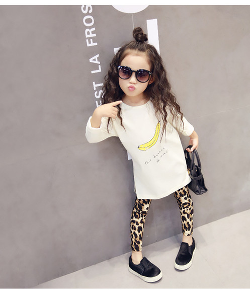 2016 New Fashion Neonate Leopard Leggings Per Bambini Casual Long Pencil Pants Tight Dresses Leggings Boot Bambini Gonne Legging