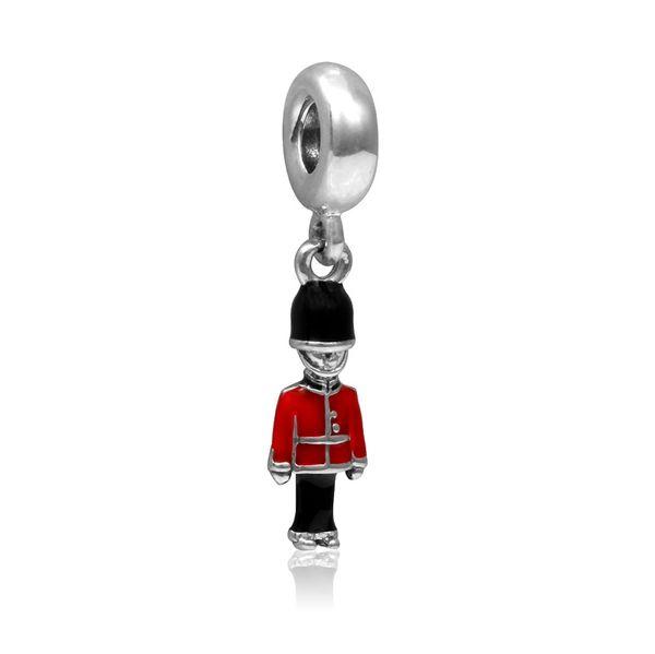 Fits Pandora Charms Bracelet DIY Beads Enamel Charm Bracelet British soldiers pendant loose bead pendant Christmas DIY bracelet accessories