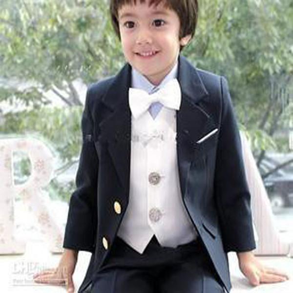 Atacado-2016 Custom Made Alta Qualidade Hot Sale Menino Ternos Formais Cinza Boy Wedding Party Terno Groom Wear (Jacket + Vest + Calças)