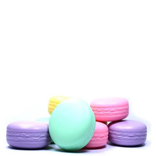 top popular 2016 New Brand makeup 4 kinds of fruit nature organic lip balm lipstick Cute round Macaron candy moisturizing lip gloss smacker 2021