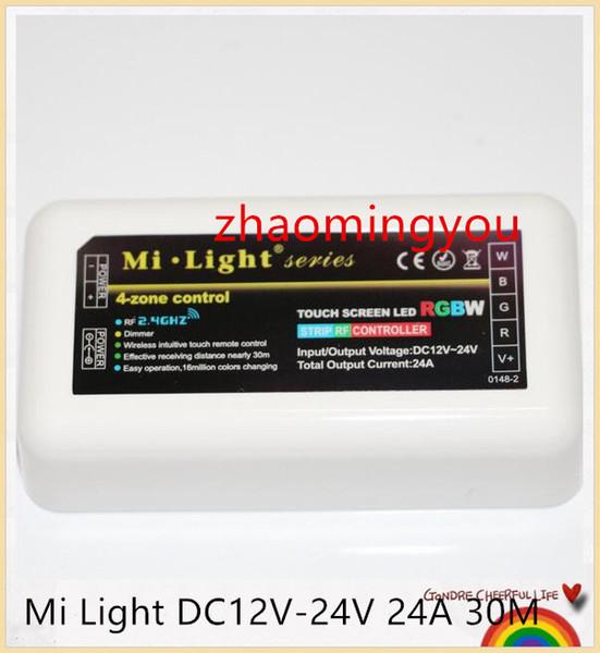 YON 100% original mi luz dc12v-24v 24a 30 m sem fio 2.4g rf led controlador para 5050 3528 3014 rgb rgbw rgbw led luz de tira
