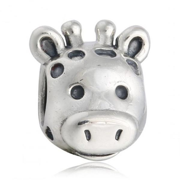 Nueva Gorgeous Giraffe Charms Vintage Animales Charm Original 925 joyería fina de plata esterlina Fit DIY Charm Bracelet Making HB515