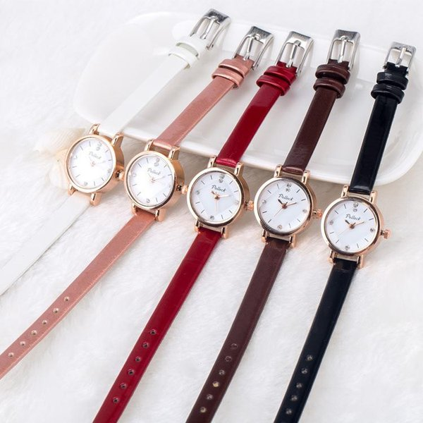 Retro Black White Dial Thin watches 20 color Small Dial Women Watches Luxury rhombus Style Simple Crystal Quartz Watch Ladies gift