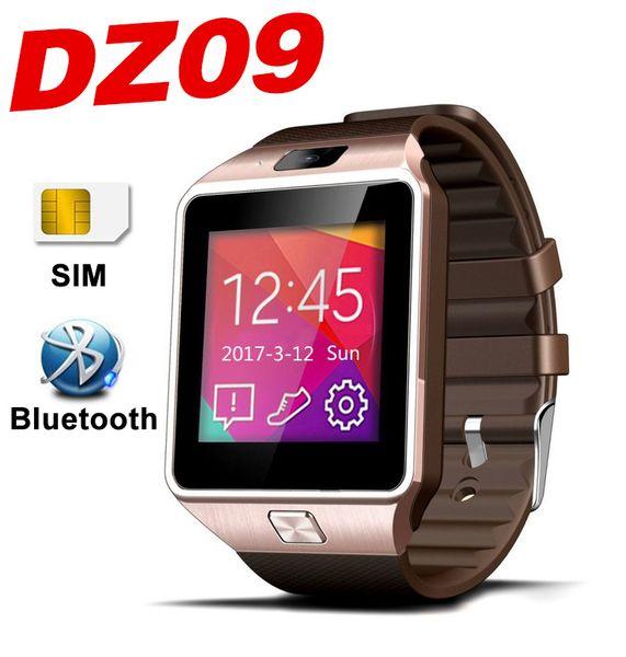 DZ09 Smart Watch Bluetooth Mobile Téléphone Smart montres TF SIM SMS Sommeil Surveillance Caméra podomètre Q18 GT08 A1 Z60 U8 x6 Tactile Smartwatch