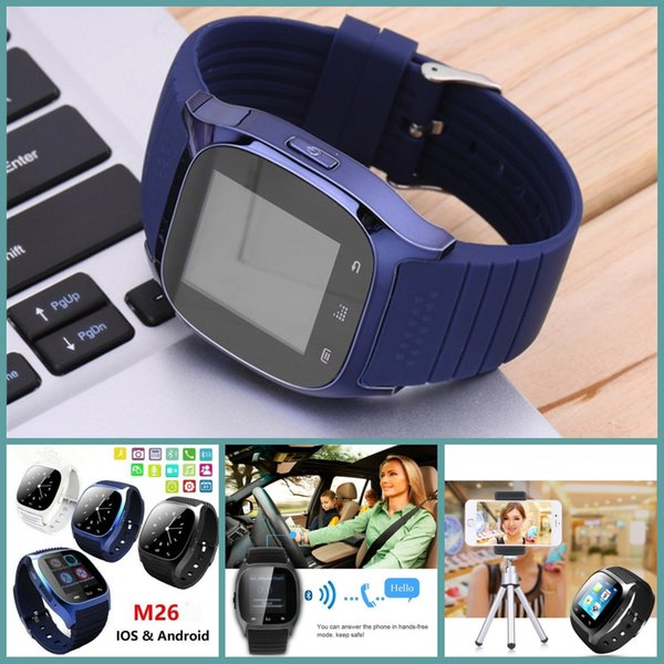 huge selection of d5057 2337c M26 Smart Watches Bluetooth Watch For IOS Android Iphone 6s Plus 6s Samsung  Xiaomi Smartphones Smartwatch VS DZ09 U8 Flip Smart Watch Smart Cheap ...