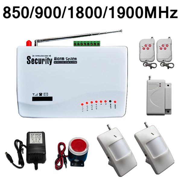 Wireless Home Security Burglar GSM Alarm System (Built-in battery) Auto Dialer SMS SIM Call + 2x PIR Motion Detector US/EU Plug Dual Antenna
