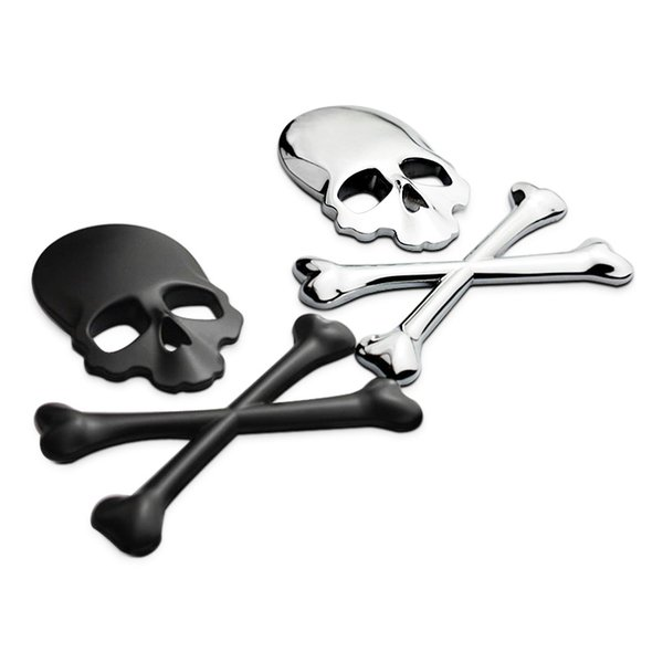 Wholesale Auto Metal Cover Truck Part 3D Skull Metal Car Motorcycle Sticker Label Skull Emblem Badge Car Styling Sticker Accessories Decal
