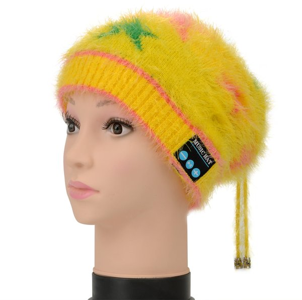 TUF Soft Warm Bluetooth Earphone Hat Cap Headphones Stereo Beanie Wireless Headset Casque Audio For iphone Samsung Smartphone