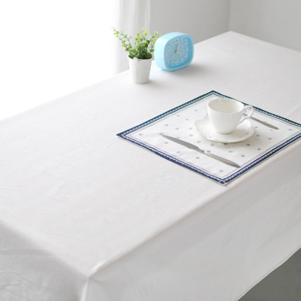 best selling White linen table cloths,European style Pure white color cloth,Upscale cafe restaurant table cover towels