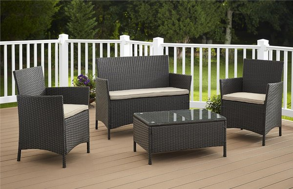 Pe Rattan Wicker Sofa Set Outdoor Patio Garden Lawn Furniture Garden