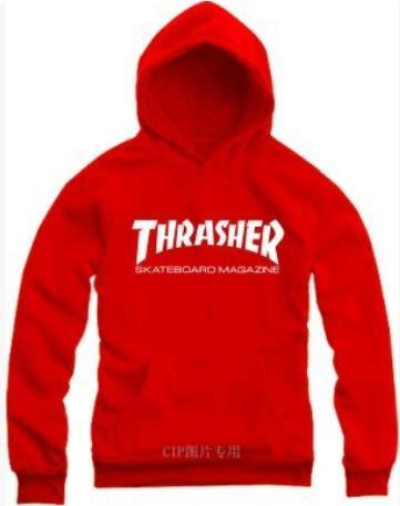 90948141a575 THRASHER Hip-hop Black Gray Hoodies Sweatshirt For Men Graphic Hooded  Pullover Sweatshirts Coat Winter