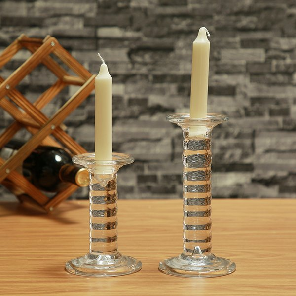 Stylish Set of 2 Cylinder Glass Candle Holders Set Special Design, Ideal For Weddings, Party Favor, Gifts