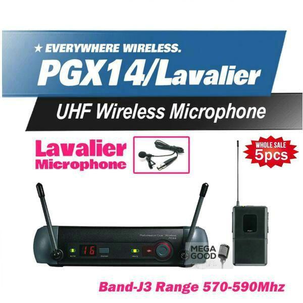 5Pcs Mikrofon Free PGX PGX14 WL93 UHF Professional Karaoke Wireless Microphone System with Lapel Lavalier Collar Clip Mic 570-590Mhz
