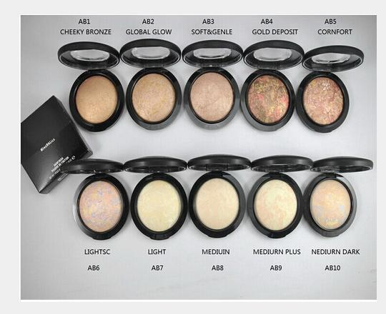 FREE SHIPPING! 2018 new High quality Makeup MINERALIZE SKINFINISH POUDRE DE FINITION 10G 10 Different color(10pcs/lot)