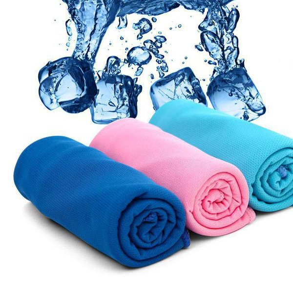 300pcs New Arrival Magic Ice Towel 90 * 30 cm Multifunctional Cooling Summer Cold Sports Towels Cool scarf Ice belt For Children Adult