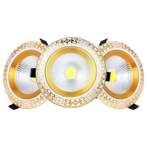 cob cerámicos led downlights 3W 5W 7W 10W 15W llevó luces empotradas en el techo luces interiores AC85-265V CE ROHS FCC TUV UL