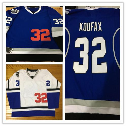 2017-18 New Style Los & Kings Combination 32 Koufax Mix Style With King Patch Stithced Hockey Baseball Jerseys