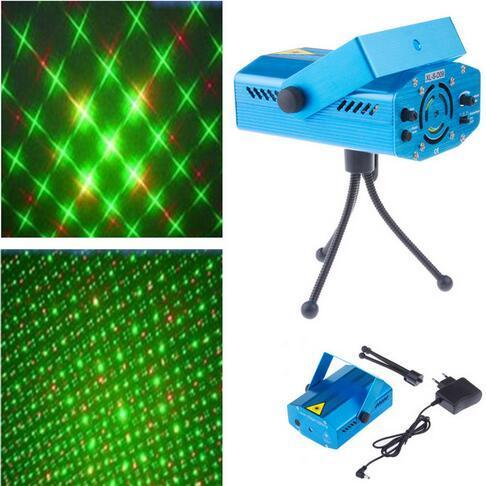 Mini Stage Laser Lights Red Green Light Bar LED Stage Lighting DJ Party Home Wedding Club KTV Projector EU US UK AU Plug
