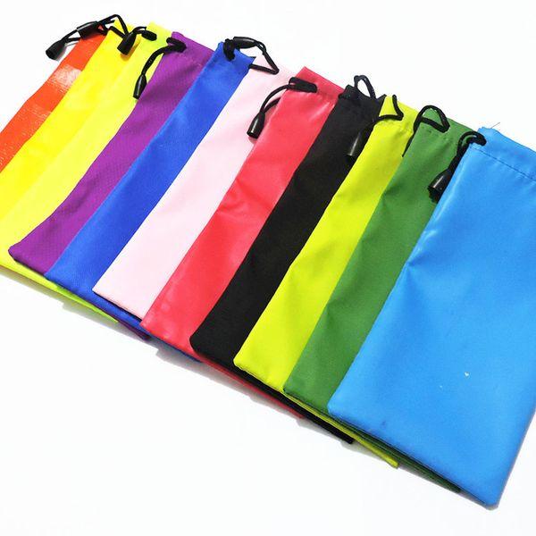 top popular Hot Mix batch Many colors candy colorssunglasses glass pouch soft eyeglasses bag free shipping 18*9cm ELAS021 2021
