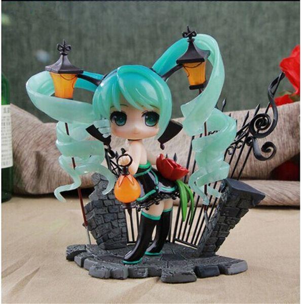 Vocaloid Anime Hatsune Miku Lamp feat. Nekozakana AlphaMax PVC Action Figure Modelo Coleção Toy New in box 15 CM