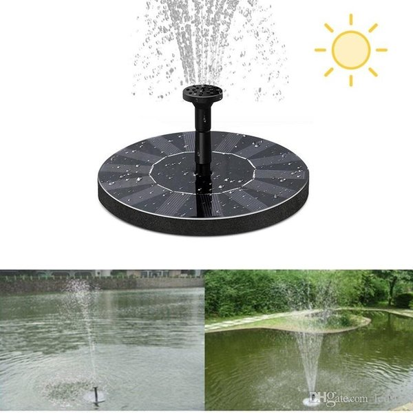 Solar Water Pump Power Panel Kit Fountain Pool Garden Pond Floating Pump Set Submersible Plants Watering Display