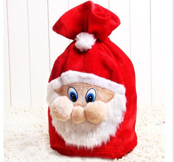 Christmas Day Decoration Santa Large Sack Stocking Big Gift bags Christmas Santa Claus Xmas Gifts Free Shipping HJIA933