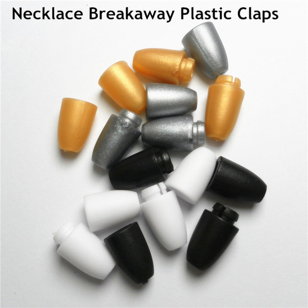 best selling 100PCS Safety Clasp For DIY Necklace's clasps Plastic Closure chew necklace Silicone Jewels Plastic Breakaway Clasps