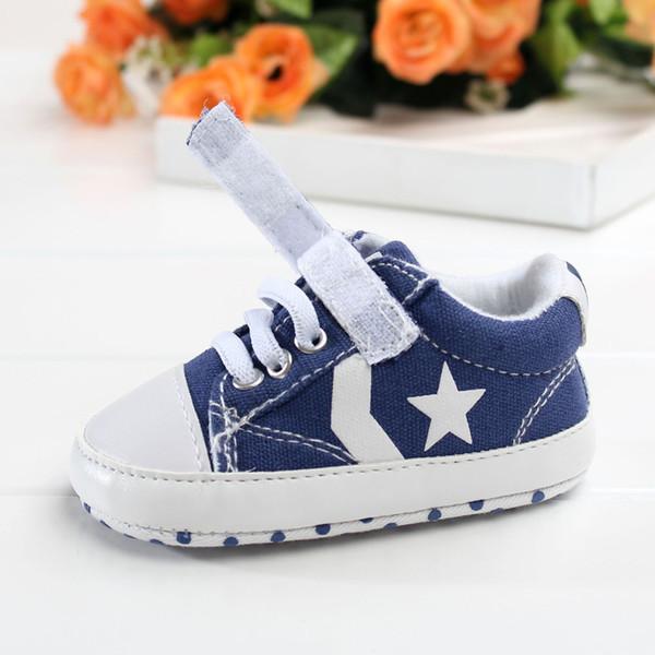 Yenidoğan Bebek Çocuk Boy Beşik Ayakkabı Kaymaz Toddler Ayak Bileği Çizmeler Tuval Prewalker Ilk Yürüyüşe