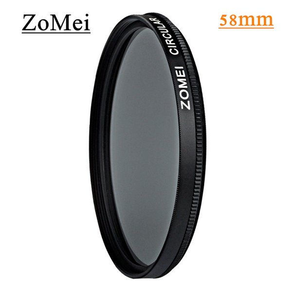 Professional Zomei 58mm CPL Polarizer Filter Circular Polarizing Filters Avoid Bright for Canon 600d Nikon 300 Sony Camera Lens