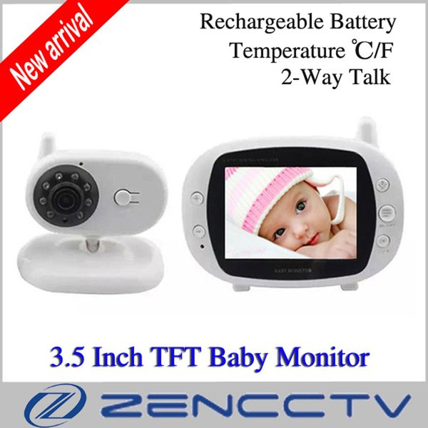 "3.5"" TFT LCD Wireless Baby Monitor Home Security 2.4GHz Digital Kid Sleep Monitor Kit Video Nanny Camera Baby Monitors"