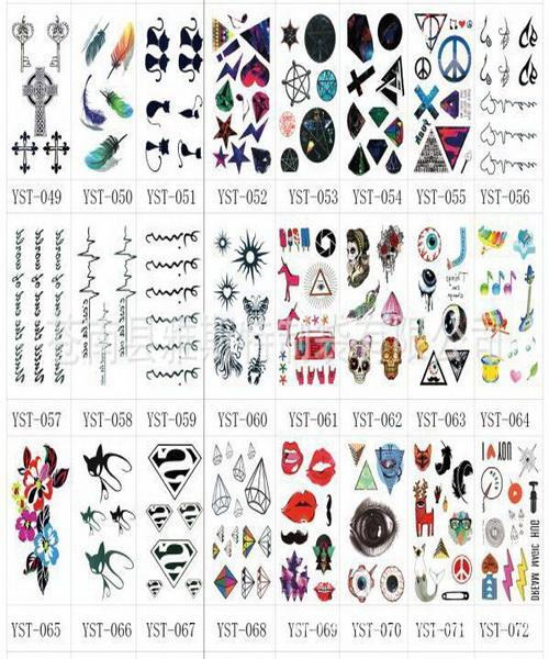 Body Art Pure Fresh Alfabeto inglese Harajuku Skull Tattoo Paste Sposa Party Weekend Tatuaggi temporanei Matrimonio