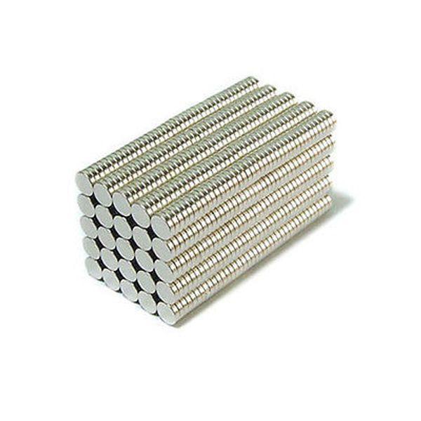 Toptan-Stokta 500 adet Güçlü Yuvarlak NdFeB Mıknatıslar Dia 4x1mm N35 Nadir Toprak Neodimyum Kalıcı Zanaat / DIY Mıknatıs Ücretsiz kargo