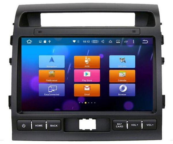 8-Core Android 6.0 10.2inch Car Dvd Gps Navi Audio for Toyota Land cruiser LC200 2008-2013 Support 3G 4G DVR Steering wheel DAB+