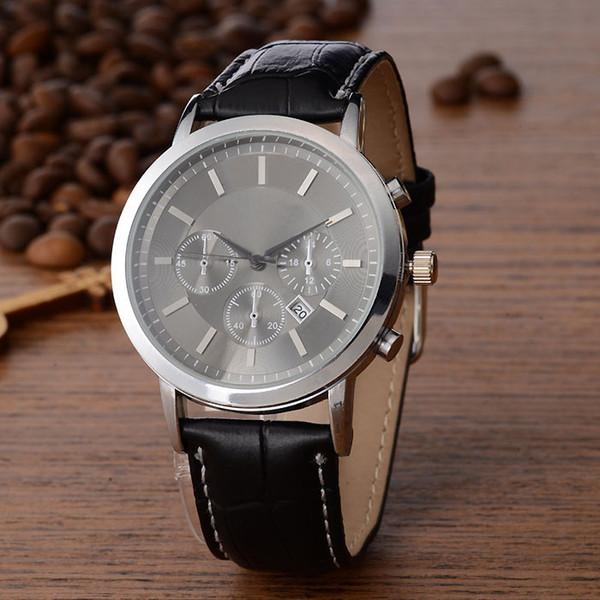 zichen080514 / Fashion popular rmani Brand Men's Leather strap Date Calendar quartz wrist Watch 6832