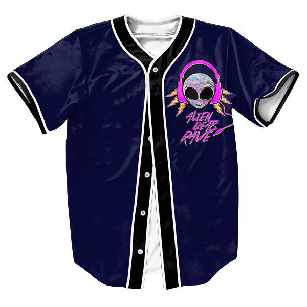 Atacado-Alien Rave Jersey com Single Breasted Hip Hop camisas dos homens streetwear camisa de beisebol topos de esportes tees verão estilo casual