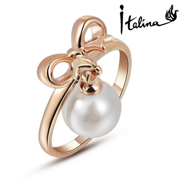 Vente en gros-Nouvelle marque de vente TracysWing véritable Autriche cristal 18KRGP couleur or anneaux pour les femmes anti-allergies # RG95588