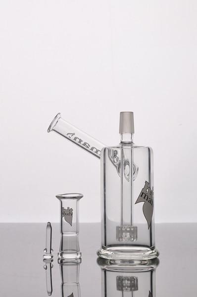 Immagine reale Hitman Mini Glass Bongs piattaforme petrolifere Birdcage inline perc Pipa da fumo Dab Rigs Tubazioni acqua Bong con articolazione maschio 14,4 mm