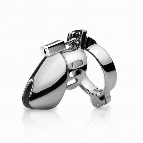 Metal male chastity device BDSM strapon cock cage penis ring,chastity belt penis lock sex products for men,Chastity cage sex toys