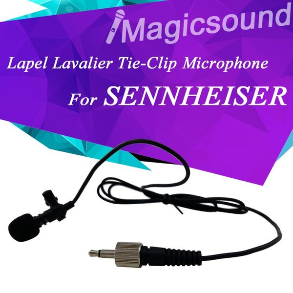 FREE SHIPPING! Lapel Lavalier Tie Clip Microphone for Wireless Body-Pack Transmitter with 3.5mm Screw Lock Connector