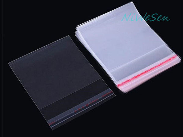 500pcs/lot 14*20cm Transparent Self Adhesive Seal OPP Bag-High Clear Clothing Packing Pouch, Resealable Dust Proof Pack Garment Plastic Bags