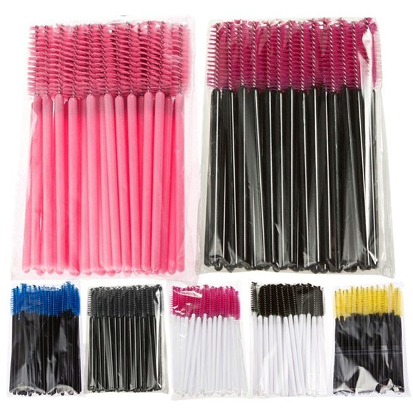 Pennello monouso Mascara Bastone Applicatore Trucco Strumento cosmetico Rosa Blu Giallo Colore nero Vendita calda B0735