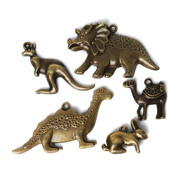 Free shipping Wholesale 11pcs/lot Mixed Tibetan Zinc Alloy Dinosaur Charms Antique Bronze Plated Pendants For DIY Jewelry Findings jewelry