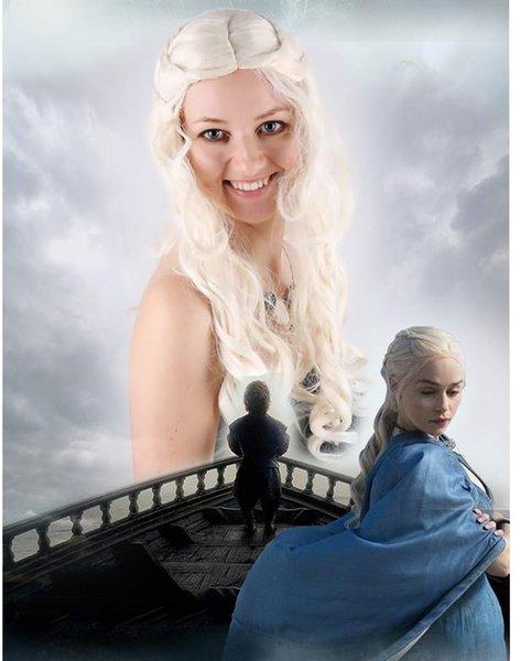 Game of Thrones Daenerys Targaryen Perücken für Party Supplies Halloween Cosplay Perücke